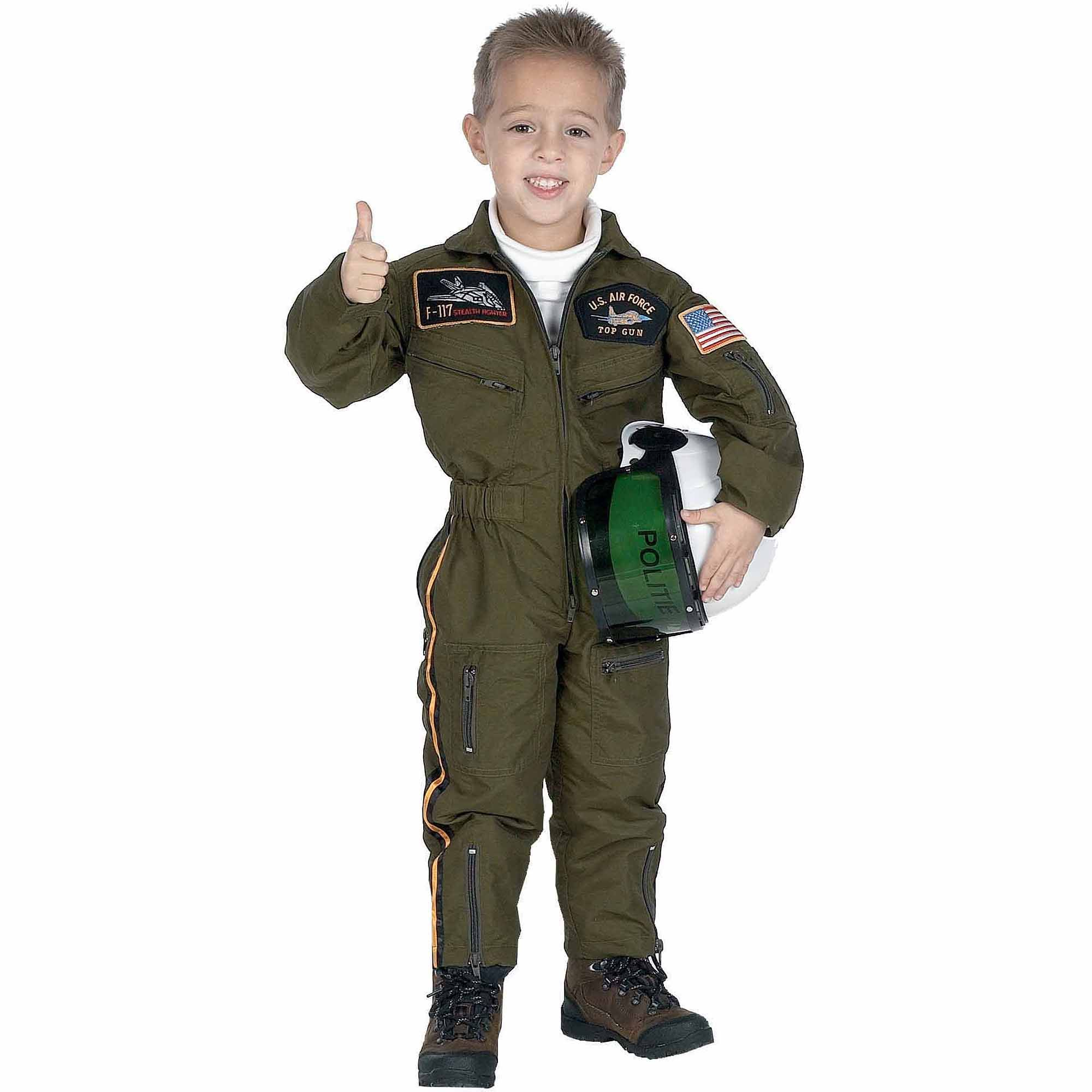 Air Force With Helmet Child Halloween Costume