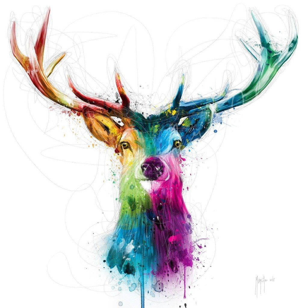 Free And Wild In 2020 Abstract Animal Art Art Deer Art