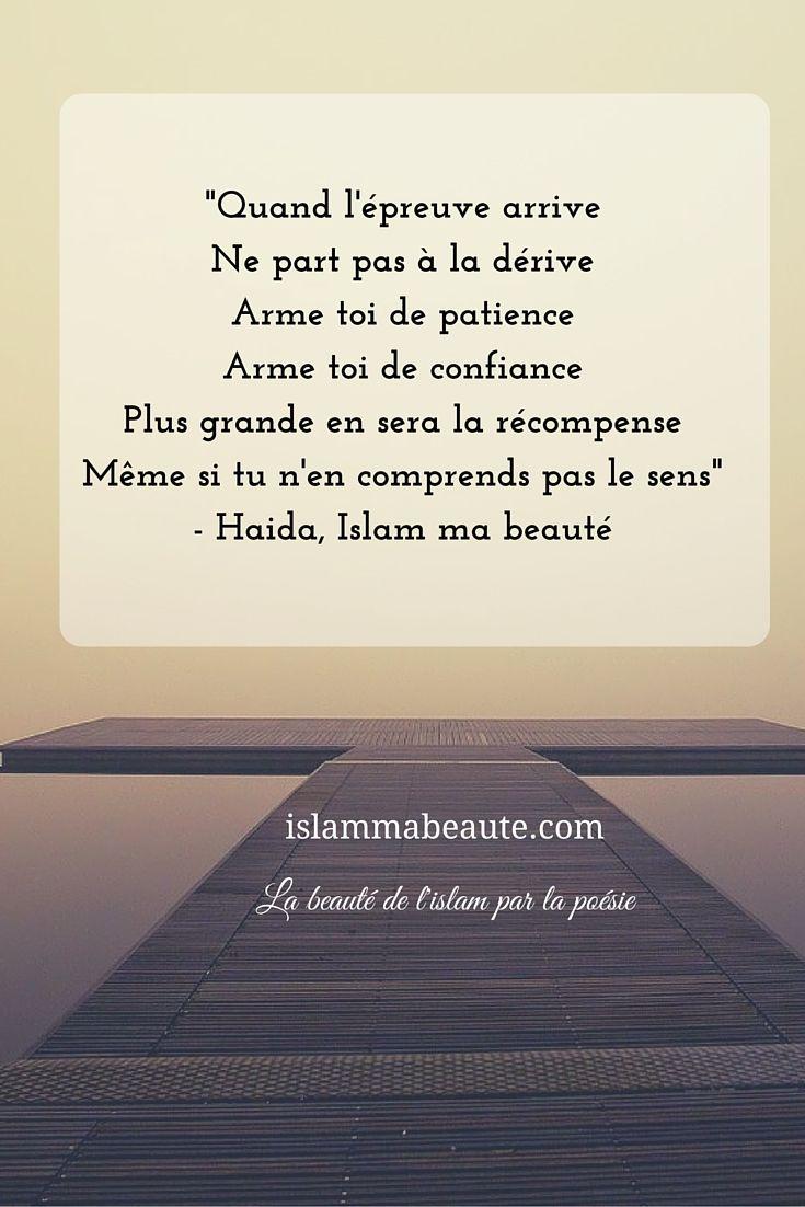 """Poème """"Quand l'épreuve arrive"""" islammabeaute.com"""
