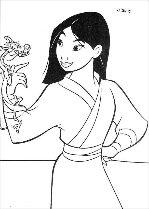 Mulan Disney Princess Coloring Page To Print Out   Disney Coloring ...