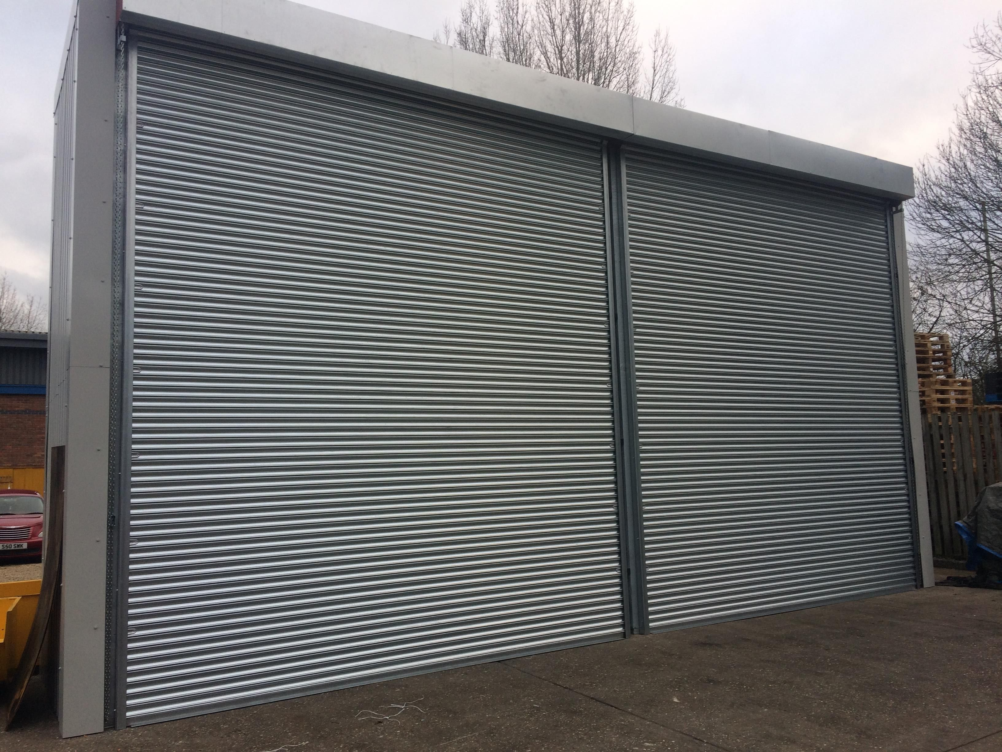 Roller shutter doors fitted to external storage unit in cheshire .worcesterdoors.co. & Roller shutter doors fitted to external storage unit in cheshire www ...