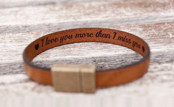 Boyfriend gift for boyfriend mens gift leather bracelet
