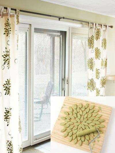 Turn Plain Curtains Into A Custom Diy Project By Making Your Own Stamp In The Video Below Is Shown How To Make Inexpensive Curtains Printed Curtains Curtains