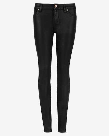 Pin for Later: Get the Skinny on Every Skinny Jean Trend For Winter Waxed ANNNA wax finish jeans (£89)
