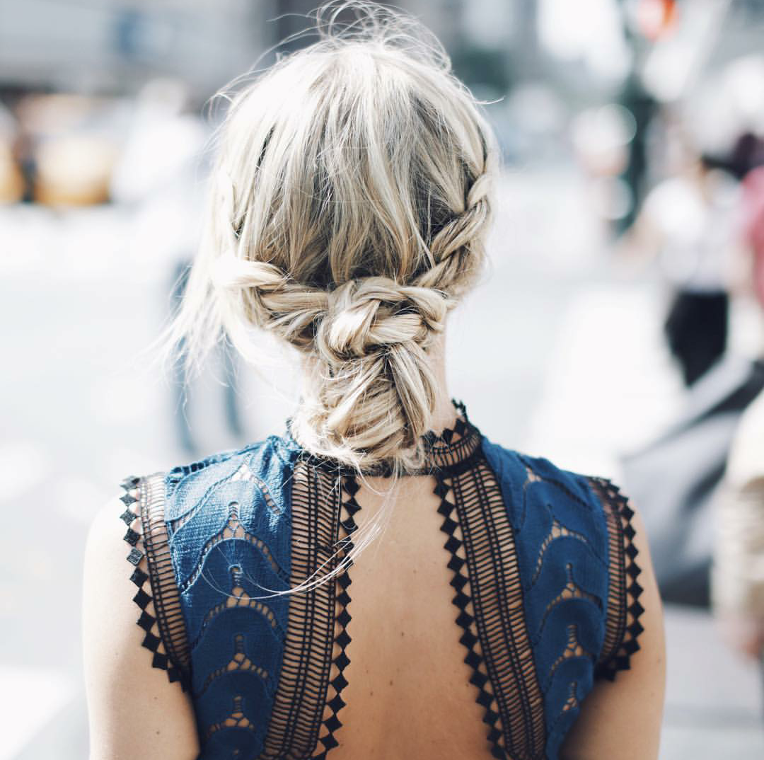 braid + messy bun | ||hair-dos|| | Pinterest | Braided ...