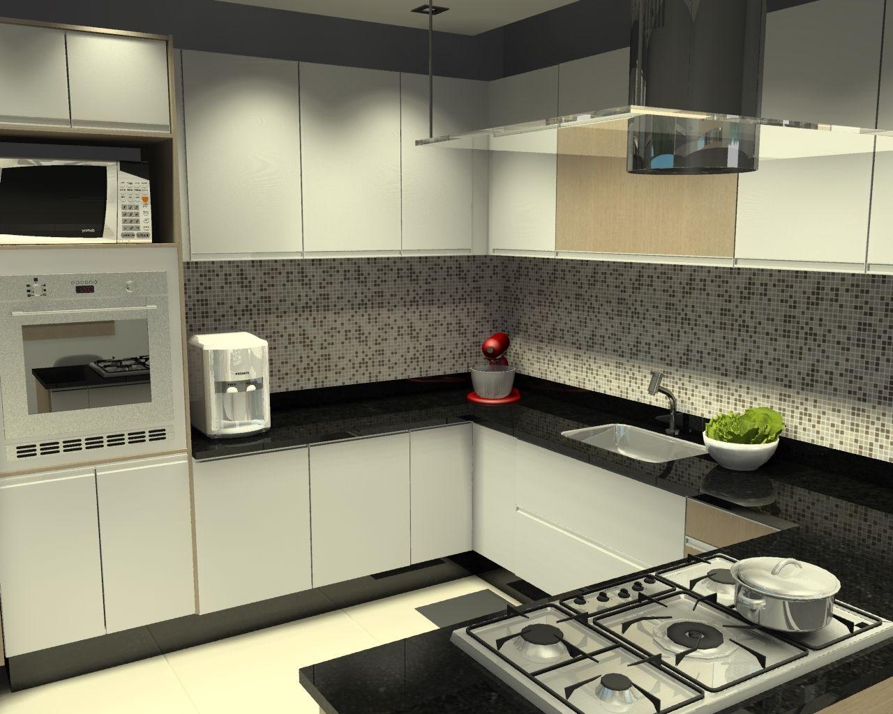 Muito cozinha cozinha com ilha cozinha em u - Galeria de Projetos Promob  UF54