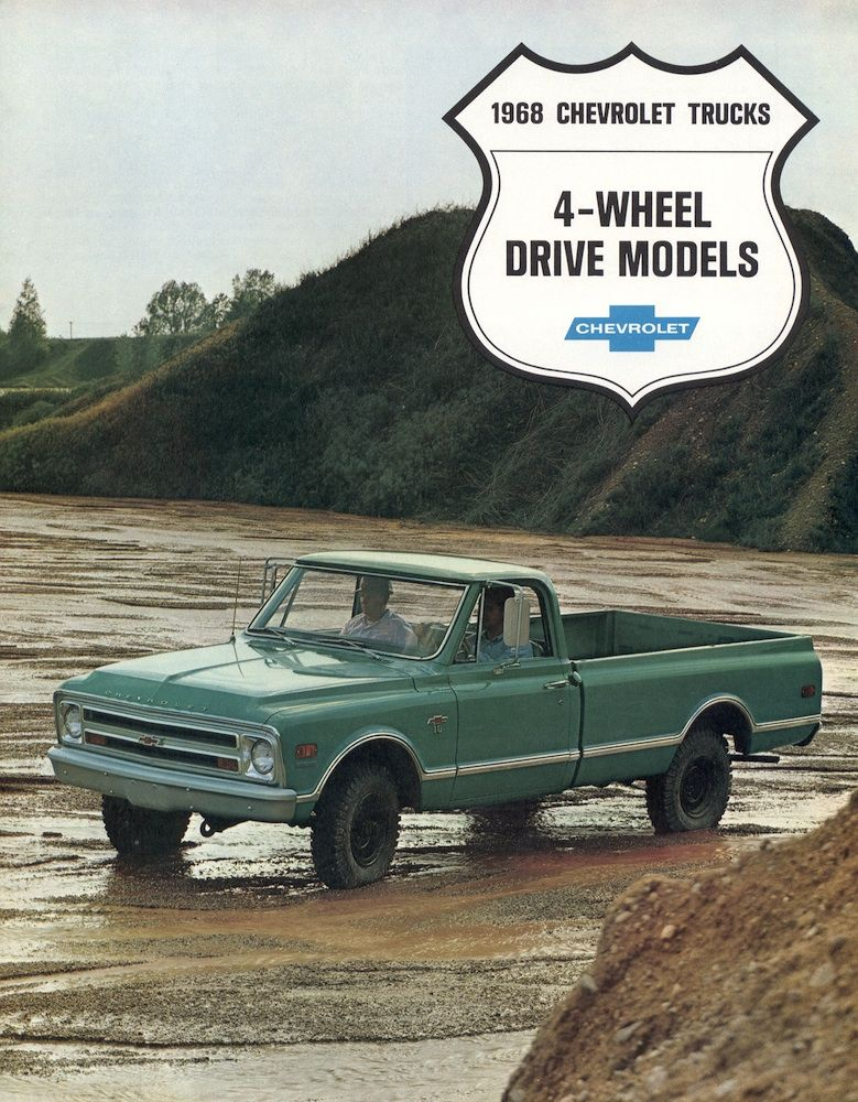 Gm 1968 Chevrolet 4 Wheel Drive Chevy Truck Sales Brochure Chevy