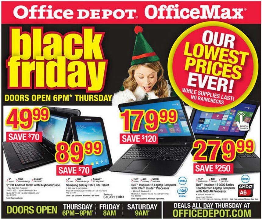 Office Depot Black Friday Adscan Black friday, Black