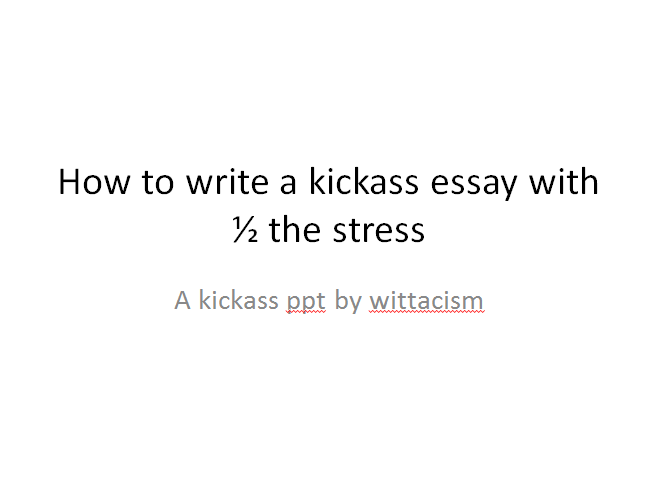 written essay papers how to