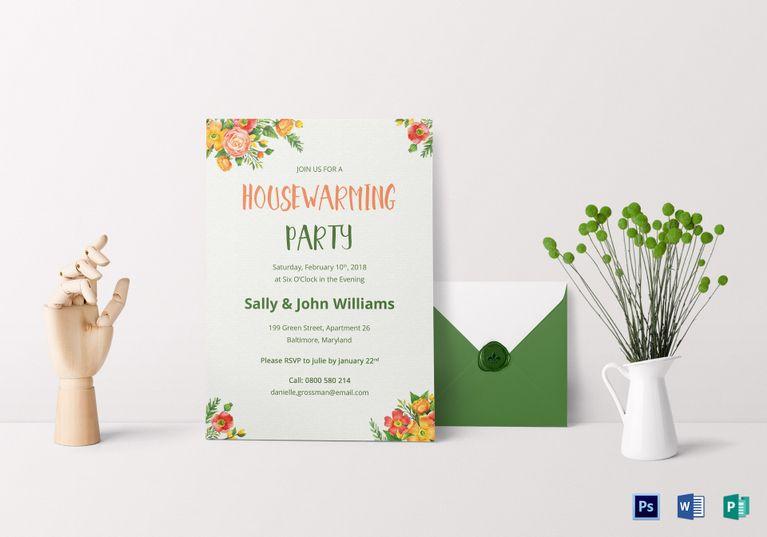 Colorful Housewarming Invitation Template Housewarming invitation - housewarming invitation template