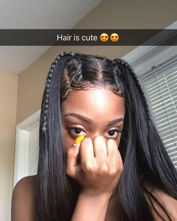 Photo of Cute girl, cute hairstyle