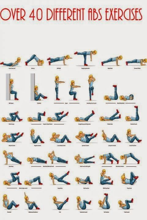 Over 40 different Abs exercises - Fitness and beauty