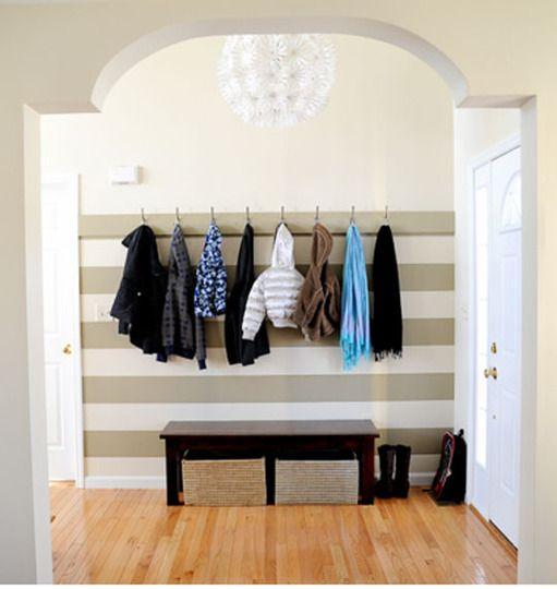 Organize a small entryway
