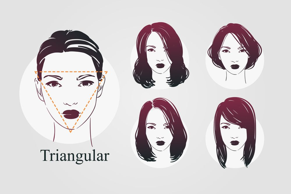 9 Face Shapes For Women And Best Hairstyles For Each Face Shapes Triangle Face Hairstyles Face Shape Hairstyles