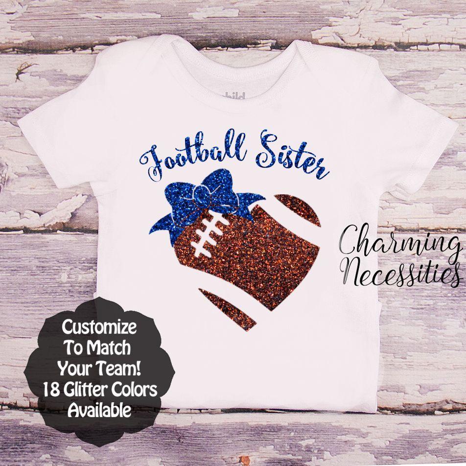 Football Sister Shirts Biggest Fan Football Little Sister Youth Football Sister Shirt