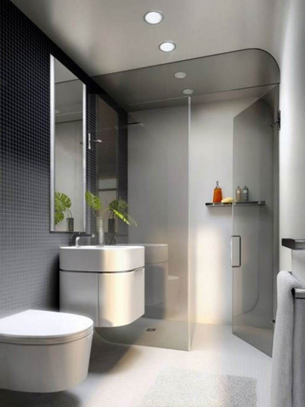 Awesome small modern bathroom designs shower indoor for Minimalist small bathroom design