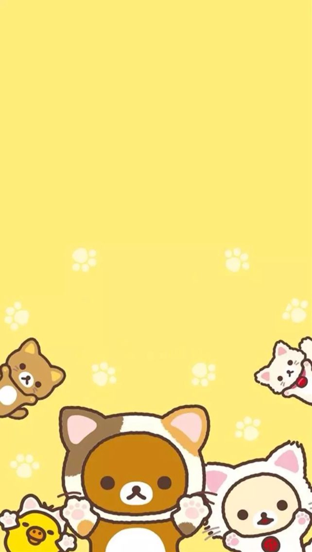 Rilakkuma cat wallpaper kawaii in 2019 - Cat wallpaper cartoon ...