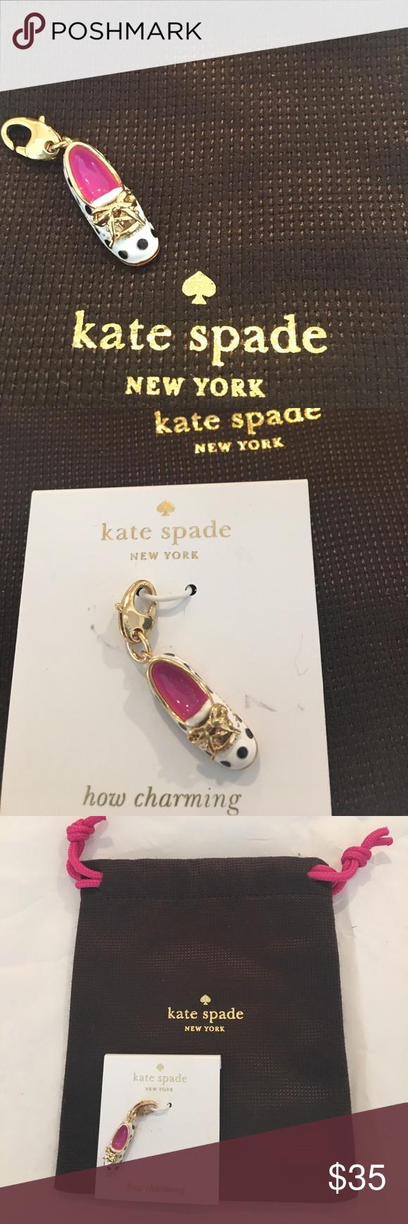 NWT Kate Spade Polka Dot Sneaker Shoe Charm NWT Kate Spade Polka Dot Sneaker Shoe Charm kate spade Jewelry