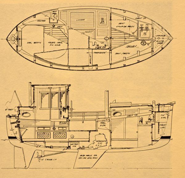 A 16 Foot Pilothouse Motorsailer You Ve Got To Be Kidding Offcenterharbor Com Boat Building Rc Boats Plans Sailboat Design