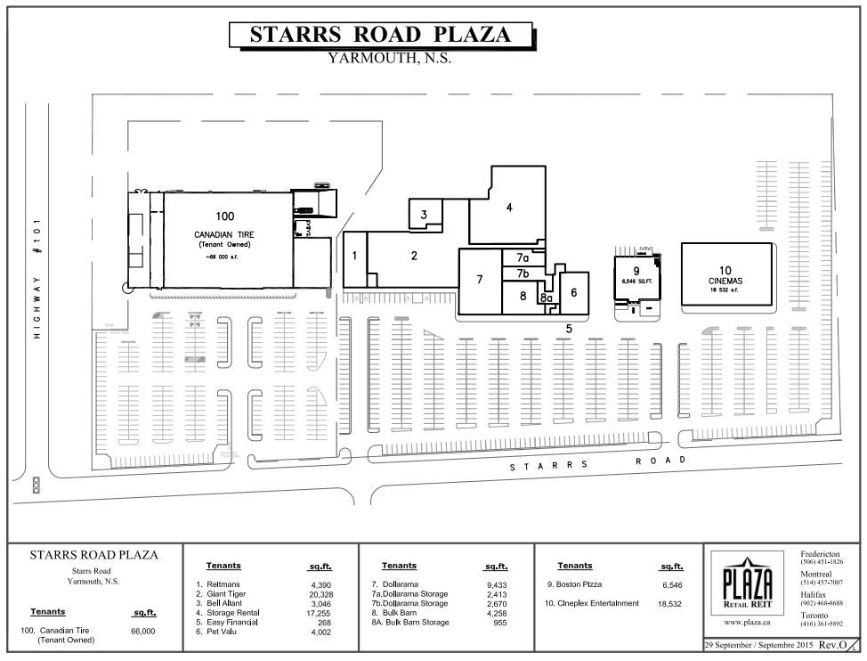 Starrs Road Plaza Shopping Plan Yarmouth Nova Scotia Yarmouth Nova Scotia