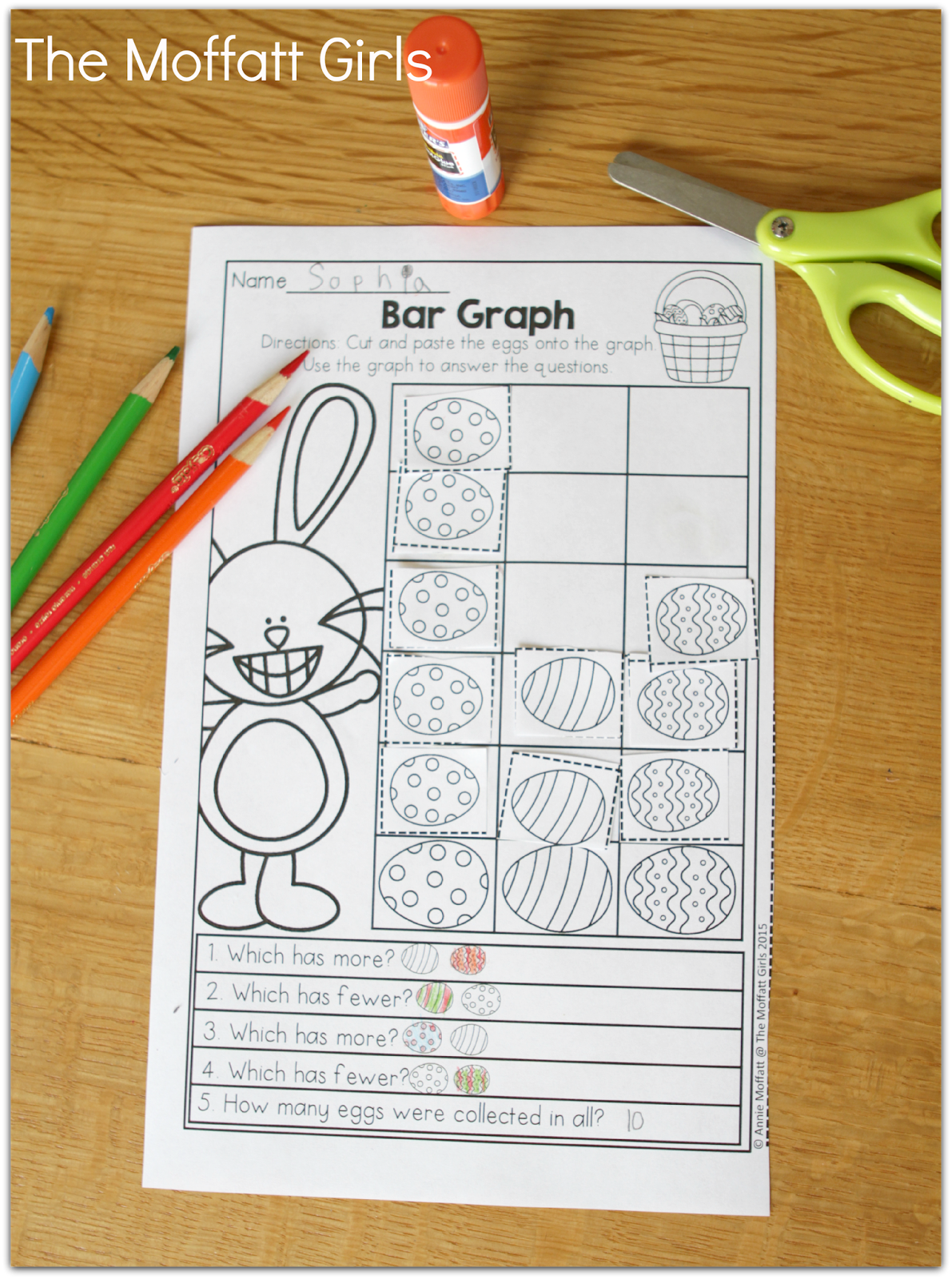 Simple Bar Graphing With Different Easter Eggs