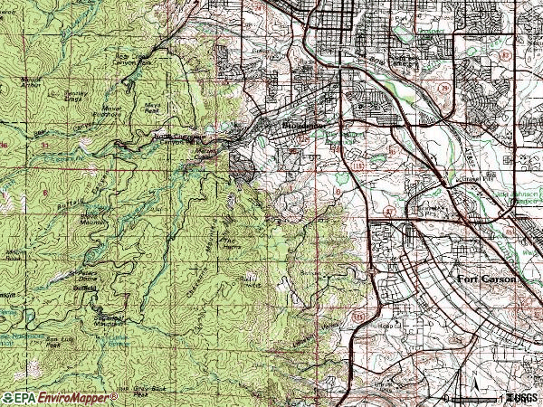 Topographic Map Colorado Springs.80906 Topographic Map Colorado Colorado Colorado Springs