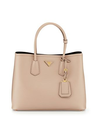 6567e45dfd38be Saffiano Cuir Double Bag Tan (Cammeo) | Fashion | Style | Prada ...