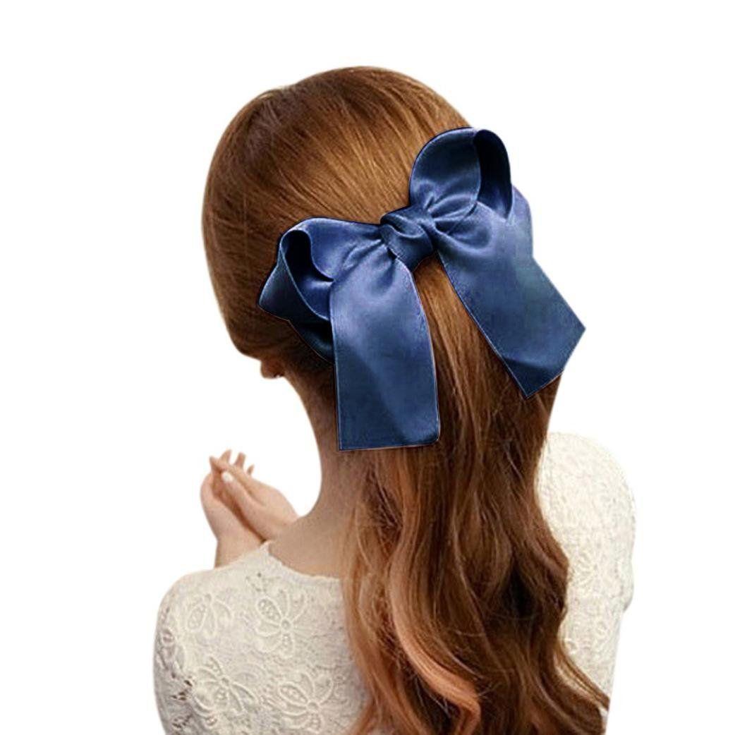 Coromose Women Girls Cute Large Big Satin Hair Hair Clip Boutique