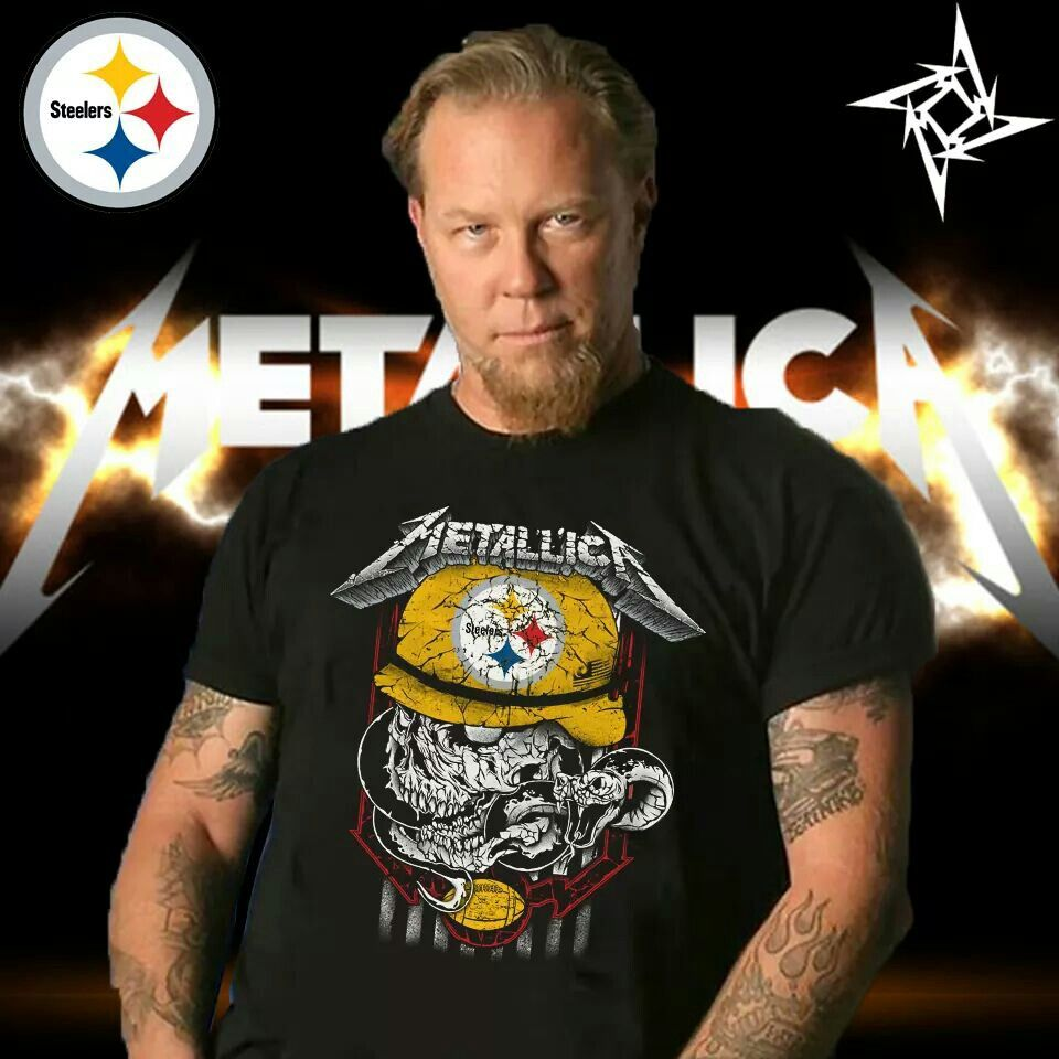 a4ce13135 Metallica s James Hetfield in a Pittsburgh Steelers t-shirt! Best picture  ever!!!!❤