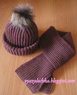 "Cap in style ""Tak.ori"" and a scarf British elastic"