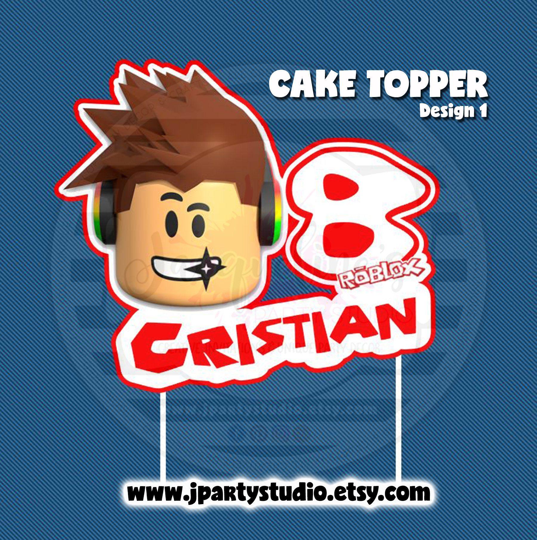 Roblox Cake Topper Video Game Cake Topper Roblox Cake Video