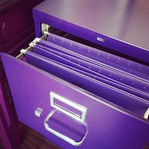 Purple File Cabinet With Images Purple Desk Purple Office