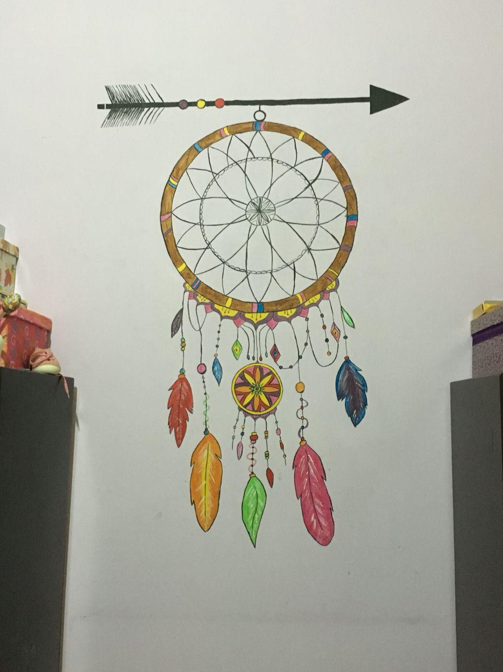 Dream Catcher Wall Painting Ideas Novocom Top