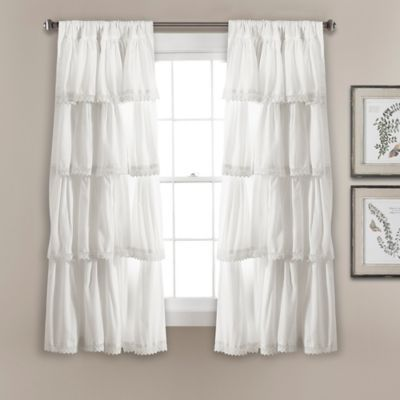 Lush Decor Lush Decor Emily 45 Inch Rod Pocket Window Curtain
