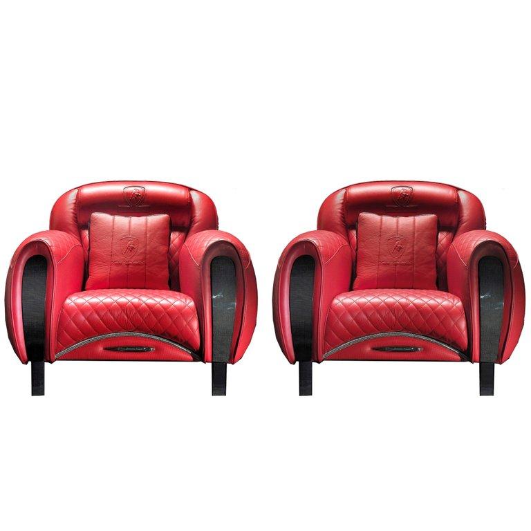 Tonino Lamborghini Carbon Imola Leather Armchair By Formitalia Leather Armchair Modern Club Chair Club Chairs