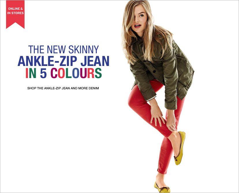 Gap Ankle-Zip Jeans - want