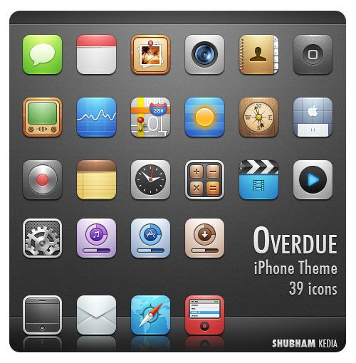 Beautiful Free to Download iPhone Apps Icons Mystrious