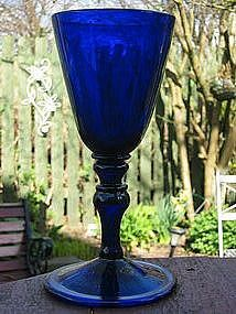 Bristol Blue Glass Goblet c.1780 #SALTBRIDE #LucindaBrant #Georgian #HistoricalRomance #18thCentury #SaltHendonSeries