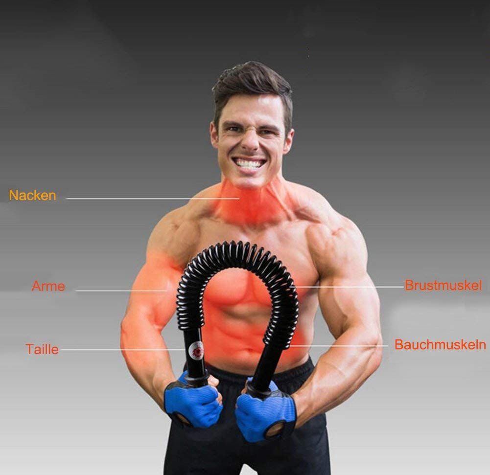 BARRE À RESSORT SPORT FITNESS POWER TWISTER GYMNASTIQUE MUSCULATION