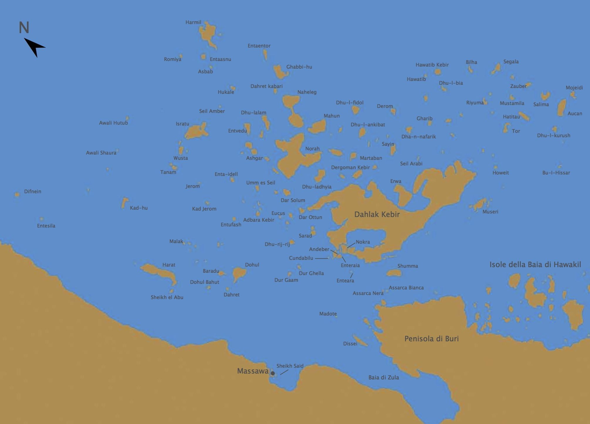 350 small and large Islands of Eritrea The Largest Island is called