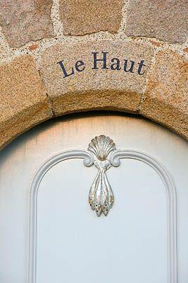 Le HAUT, GUERNSEY: FRONT DOOR WITH LE HAUT