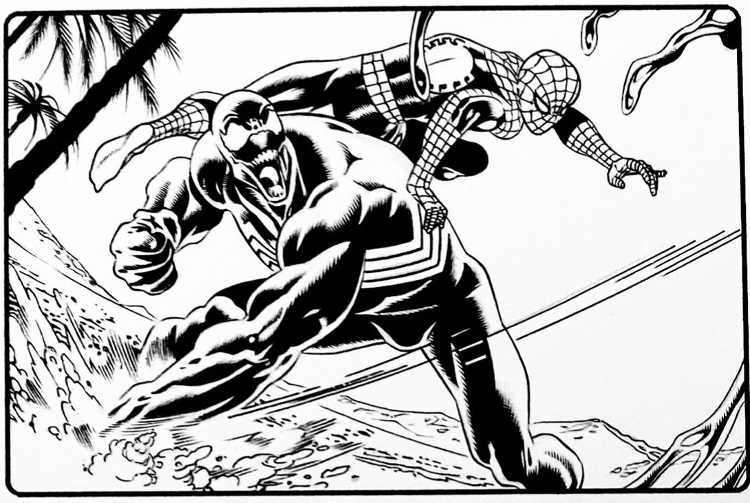 SPIDER-MAN vs. VENOM!!!  From an issue of Marvel Comics VENOM. Pencils by Paulo Siqueira and inks by myself, Walden Wong Sub me on www.youtube.com/WaldenWongArt  ______________________________________   #Marvel #marvelcomics #PauloSiqueira #pencils #waldenwongart #ink #inking #inker #makingcomics  #draw #drawing  #micron #art #artist #artwork #brush #micron #speedball #brush #avengers #venom #stanlee #spiderman #amazingspiderman #comics #milesmorales  #mcu #draw #penandink #arte