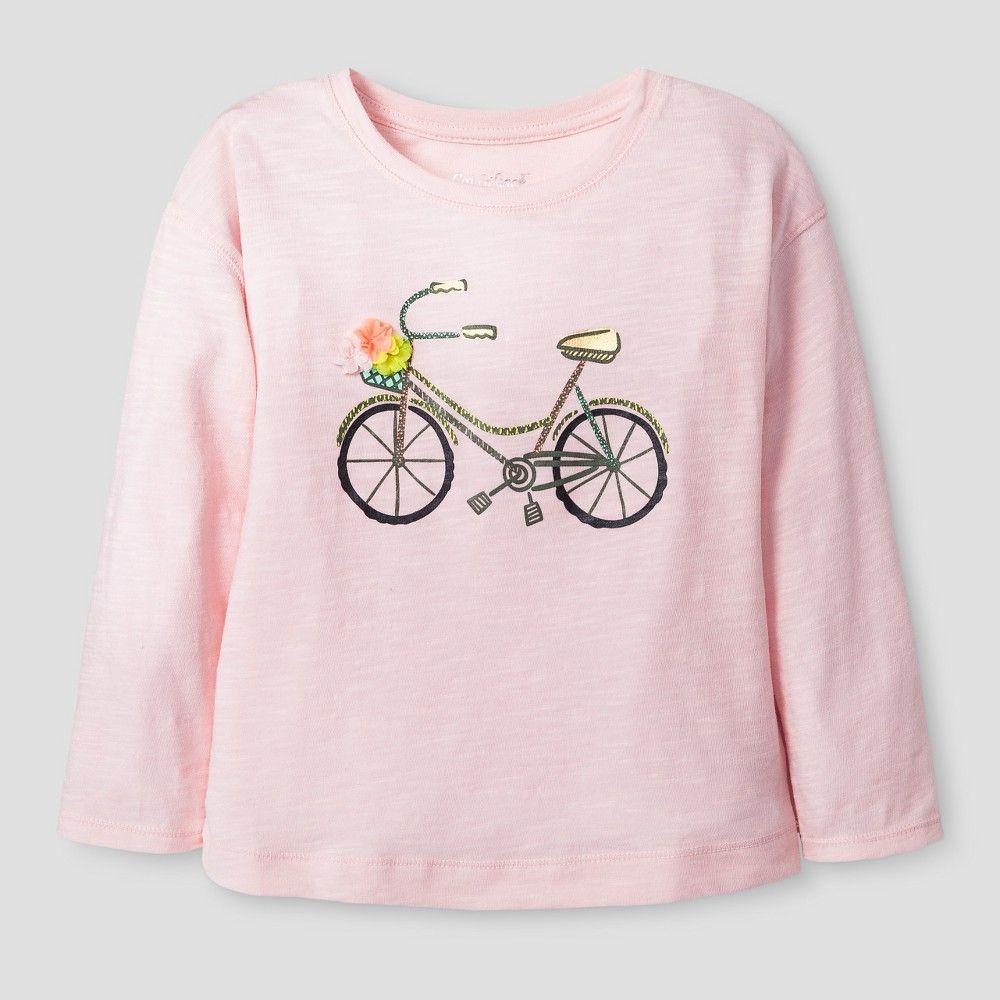 Toddler Girls Long Sleeve Bicycle Graphic T Shirt Cat & Jack