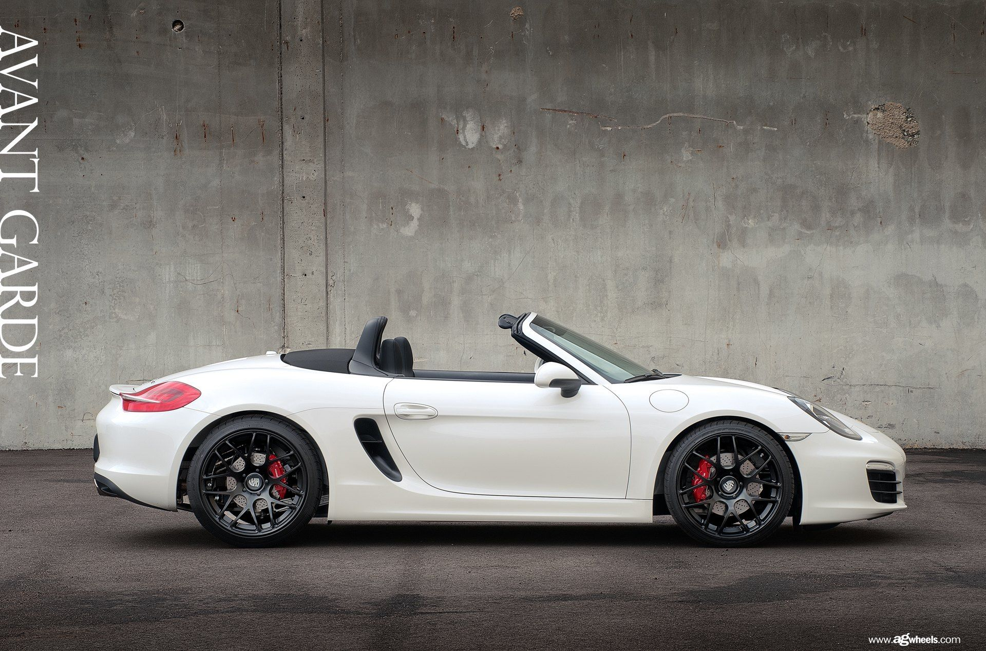 White On Black Custom Convertible Porsche Boxster Boasts
