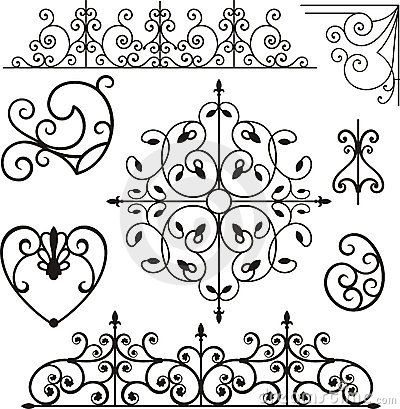 could use for TP //Wrought iron ornaments