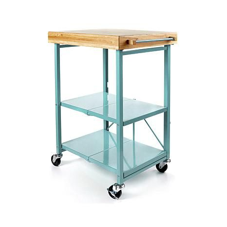 Origami Folding Kitchen Island Cart With Casters | Shops, Origami
