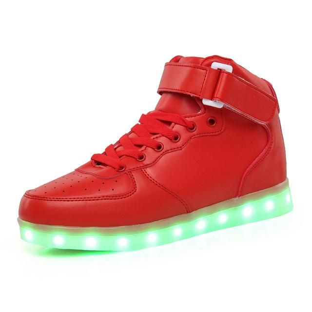 BININBOX Kids Casual Sneakers Bling Led Light Up Shoes for Boys Girls 7 M US Toddler, Black