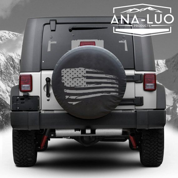 Distressed American Flag Tire Cover By Analuo On Etsy Jeep Spare