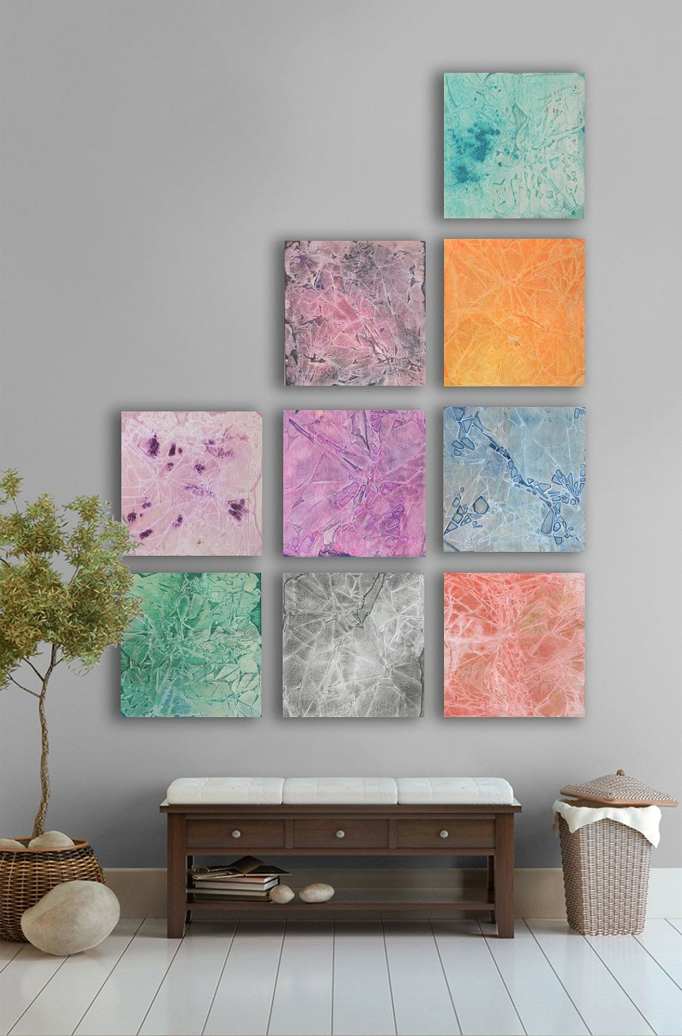 large abstract painting 9 square custom abstract wall art on wall paintings id=58296
