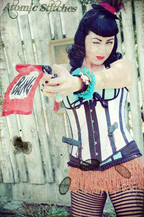 Custom Target Practice Knife Thrower Circus Girl by AtomicStitches